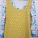 X-Large and Medium multi-patterned cotton top.