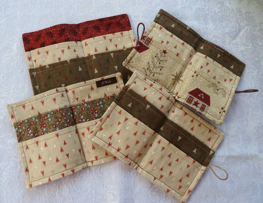 Scandinavian Christmas - Cotton Tea Wallets