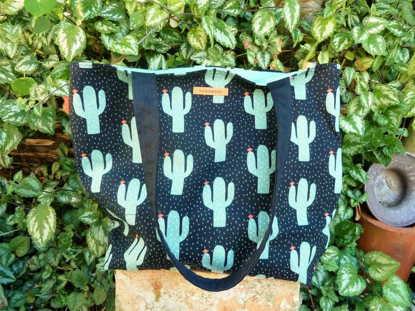 In The Cactus  - Cotton Tote - Postable Gift Idea