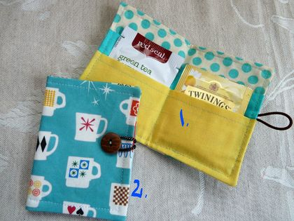 Tea Wallets - Retro Cups