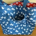 Sea Birds & Stars - Reversible - Cotton Tote/Shoulderbag