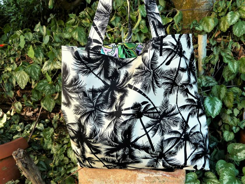 Palm Trees - Cotton Canvas - Tote
