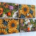 Wildflowers / Sunflowers  -  Cotton Wallet Storage for Teas etc