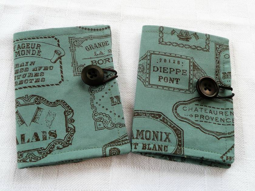 Cotton Tea Wallets - Bon Voyage