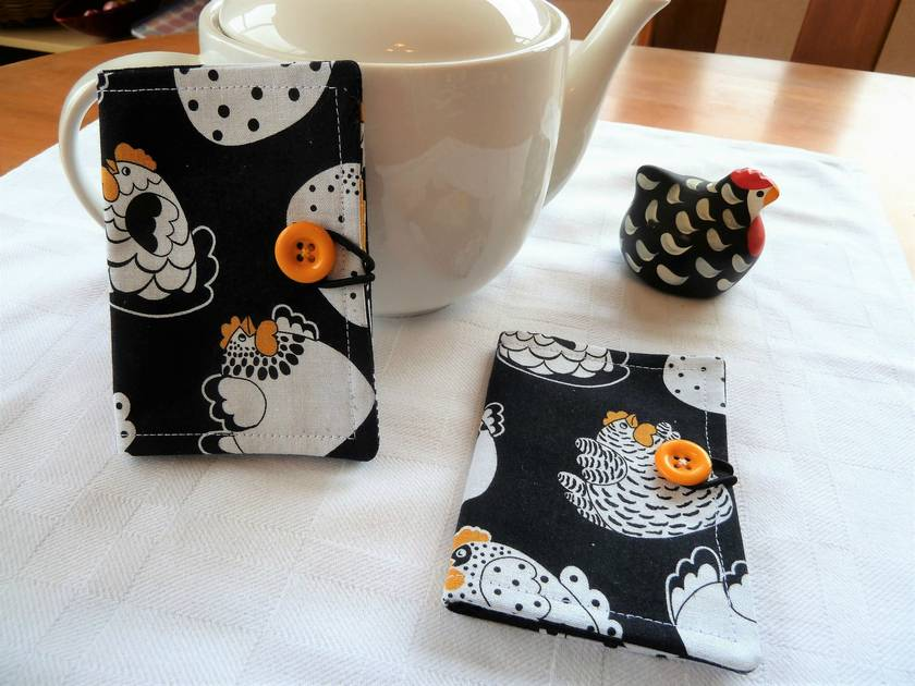Cotton Tea Wallets - Happy Hens