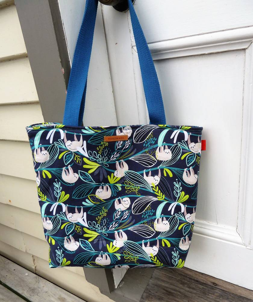 A Blinking of Sloths  -  Cotton Tote