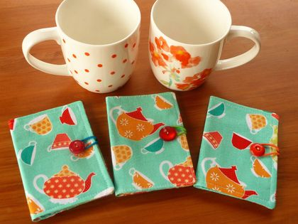 Cotton Tea Wallets  -  Ardently Austen
