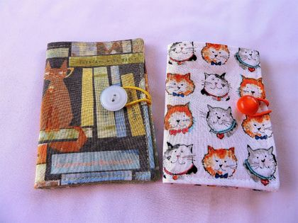 Cotton Tea Wallets - Cats