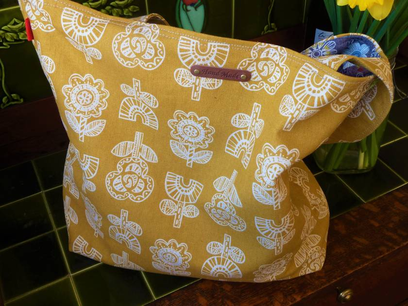 Modern Floral Cotton Tote