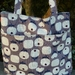 Mod Flora  -  Cotton Linen Tote / Shoulder Bag / Nappy Bag