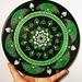 Green mandala on 10 inch vinyl record