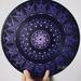 Purple mandala on 12 inch vinyl record