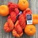 Hand dyed DK Polwarth Tangerine Dream
