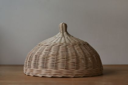 Handwoven Natural Rattan Cloche Food Cover
