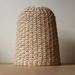 Handwoven Rattan Intricate Diamond-Weave Lampshade