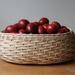 Handwoven Natural Rattan Fruit Bowl - Large Oval