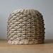 Handwoven Natural Rattan & Seagrass Pendant Lampshade
