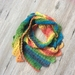 Lacy asymmetrical scarf