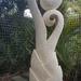 Stone garden art sculture Palmfronds