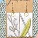 Original handmade fabric earrings (sterling silver hooks)