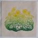 Sunshine. Linocut Print on Kitakata.