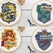 Hogwarts House Crest Cross Stitch Pattern - Gryffindor, Slytherin, Ravenclaw, Hufflepuff