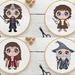 Lord of the Rings Character Cross Stitch Pattern