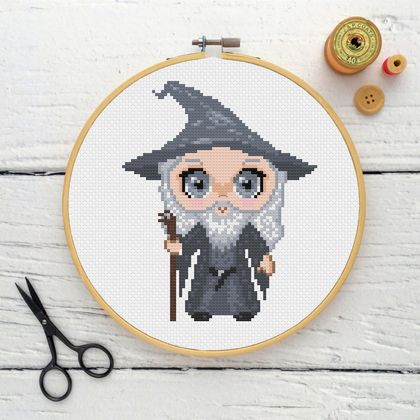 Gandalf Cross Stitch Kit  |  Lord of the Rings