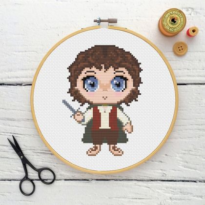 Frodo Cross Stitch Kit  |  Lord of the Rings