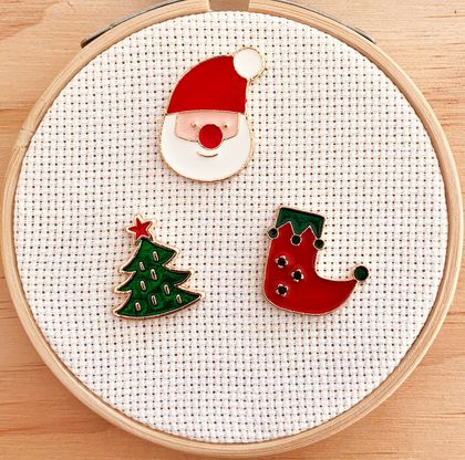 Needleminder | Christmas | Santa | Stocking | Christmas Tree