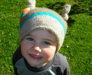 Top Knotted felted beanie