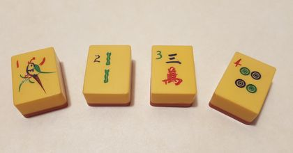 Upcycled Mahjong Magnets