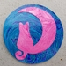 Acrylic Pour Patch - Cat in the Moon