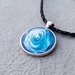 Acrylic Pour Pendant Necklace - Wearable Art