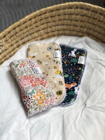 Reusable Cloth Wipes 3 pack mixed