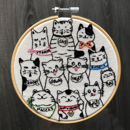 Aussie Cats Embroidery