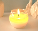 Scented soy glass bowl candle