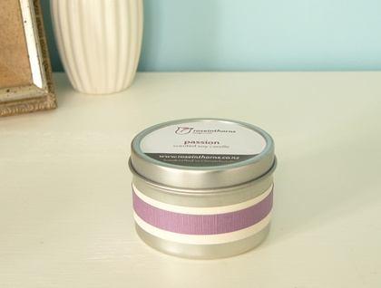 Scented soy tin candle – medium