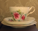 Soy teacup candle - Regency with Red Roses