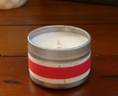 Scented Soy candle in travel tin - small