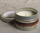 Scented Soy candle in travel tin - medium