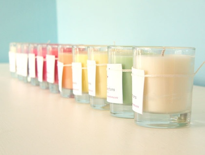 Scented soy glass votive candle