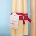 Soy/beeswax blend hand dipped taper candles