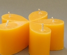 *SALE* 50% off – Set of five Orange scented mini teardrop candles