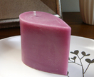 Passion scented small teardrop candle