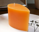 Orange scented small teardrop candle
