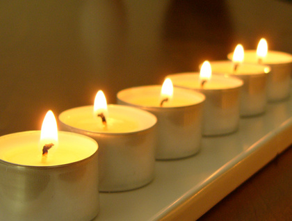 *SALE* Box of six scented soy tealight candles