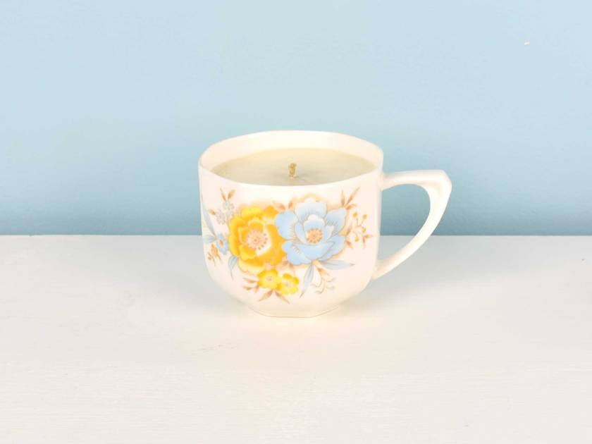 ***SALE*** Frangipani scented soy teacup candle