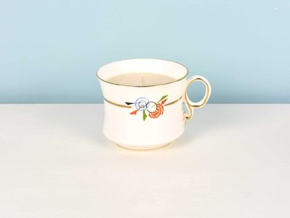 Mandarin & Mimosa soy teacup candle