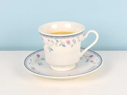 Hyacinth scented soy teacup candle